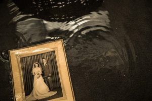 Flooded Home with Old Photo